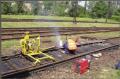 Regeneracja stalowej nawierzchni kolejowej